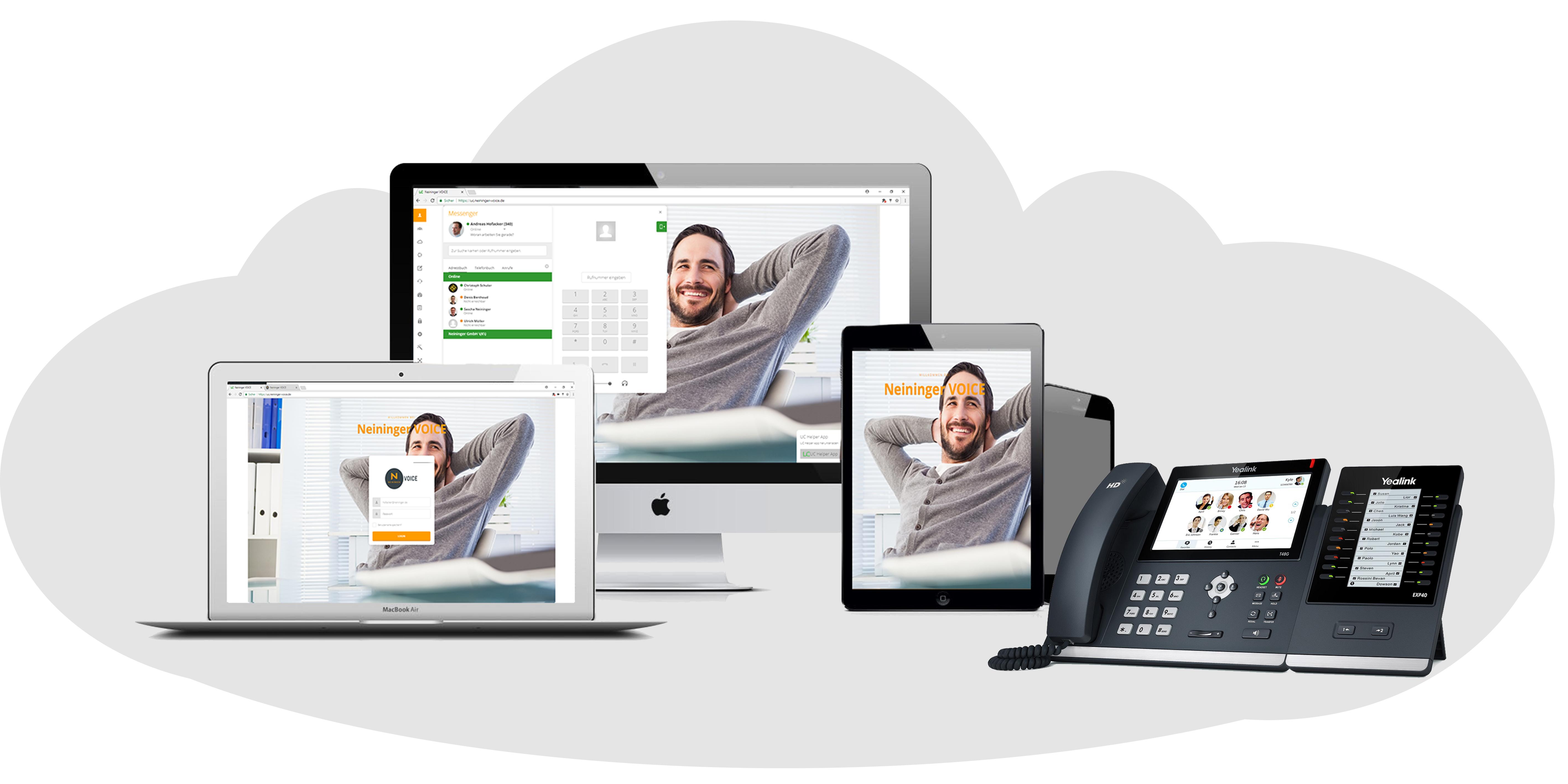 Neininger VOICE auf allen Geräten in der Cloud