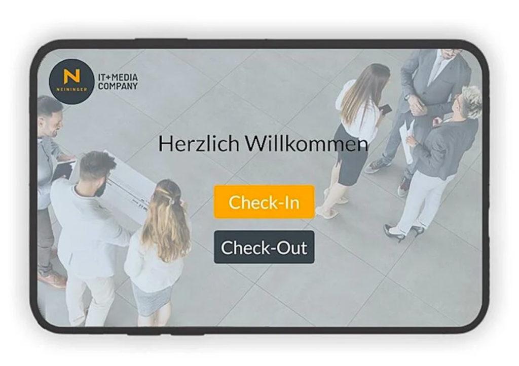 CheckIn App Besucherregistrierung